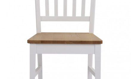 Filippa spisebordsstol – Hvid/natur egetræ