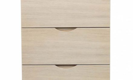 Filippa kommode – Hvidpigmenteret eg, 5 skuffer