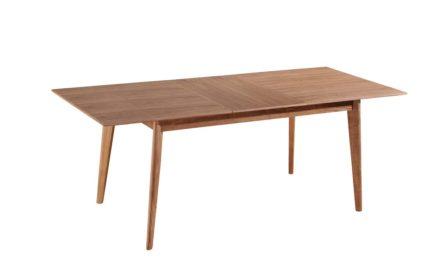 Malmø spisebord – natur, m. indbygget tillægsplade