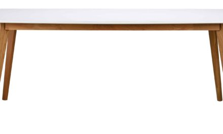 Olivia spisebord – hvid/egetræ, m. udtræk (190×90)