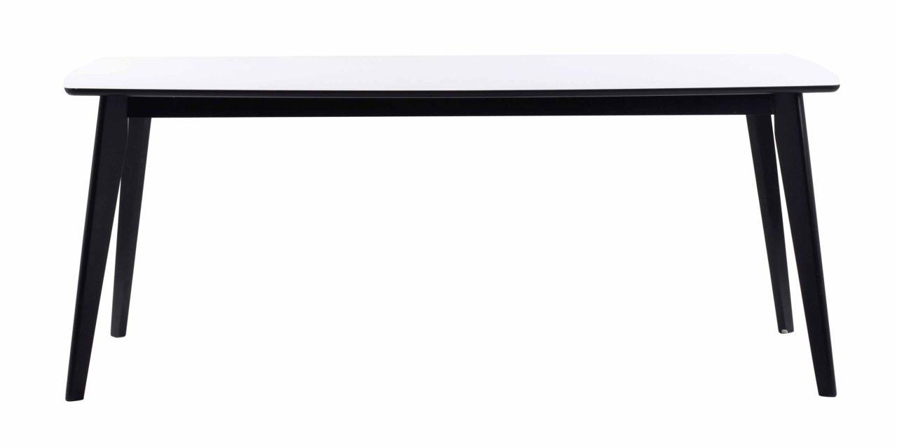 Olivia tillægsplade – Hvid/sort 45 cm tillæg