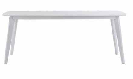 Sanna spisebord – Hvidt egetræ, 190×90