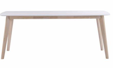 Sanna spisebord – Hvidpigmenteret egetræ, 190×90