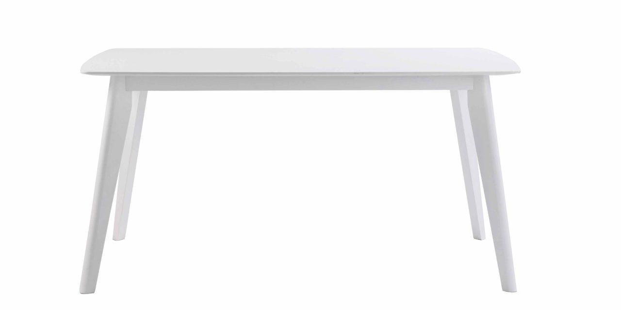 Sanna spisebord – Hvidt egetræ, 150×90