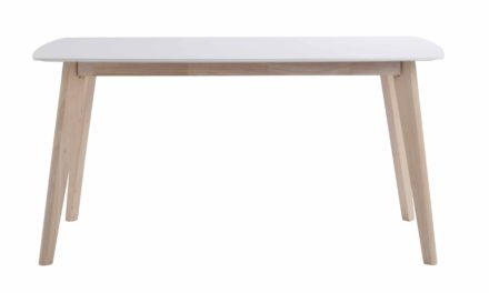 Sanna spisebord – Hvidpigmenteret træ, 150×90