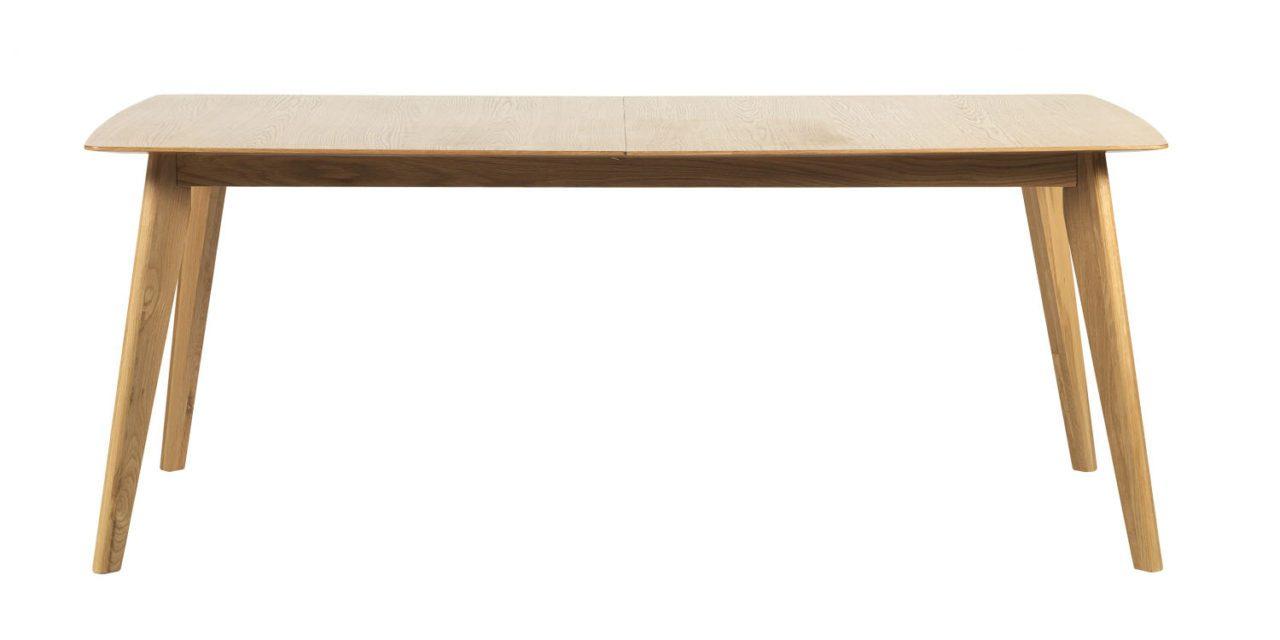 Cirrus spisebord – lakeret eg, m. butterfly tillægsplade (190×90)