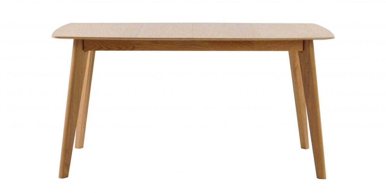 Cirrus spisebord – lakeret eg, m. butterfly tillægsplade (150×90)