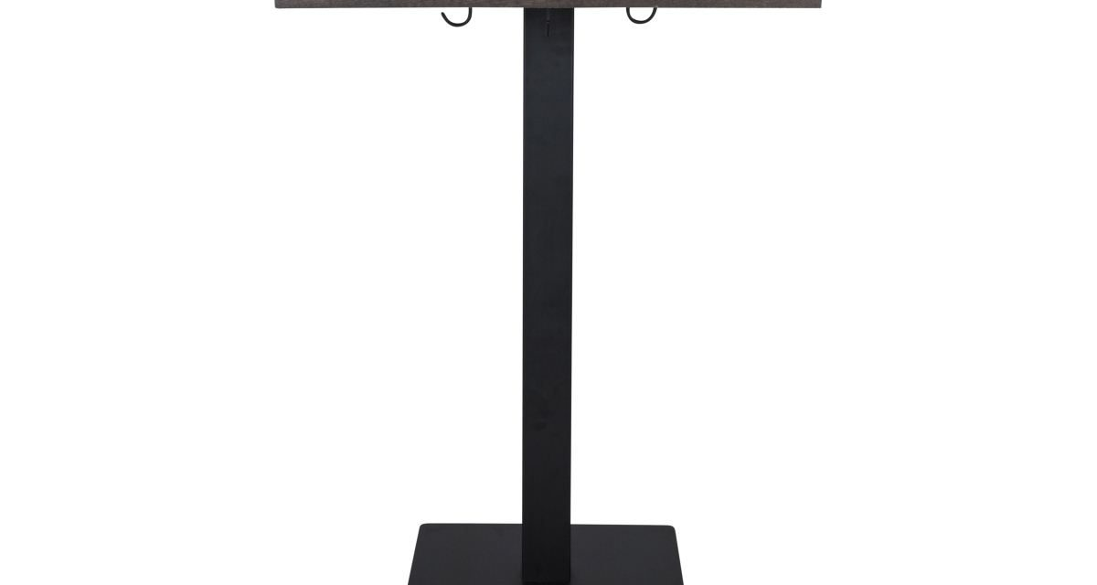 Nydeligt Morton cafébord i mørkebrunt egetræsfinér og sortmalet metal fra det kendte brand Canett