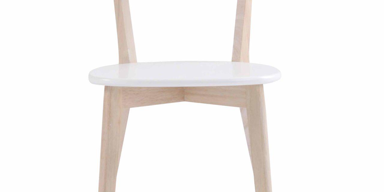 Sanna spisebordsstol – Hvidpigmenteret egetræ