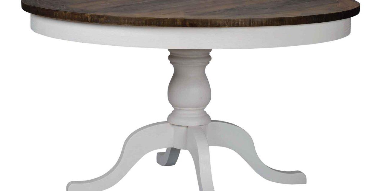 Nottingham spisebord – brun/hvid, rund (Ø130)