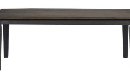 Nottingham spisebord – brun/grå m. udtræk (200×100)