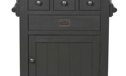Nottingham anretterbord – grå granit/træ m. 4 skuffer og 2 låger