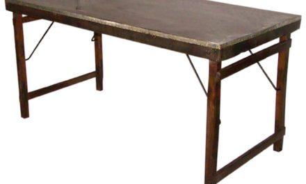 SJÄLSÖ NORDIC Spisebord i træ og genbrugsmetal