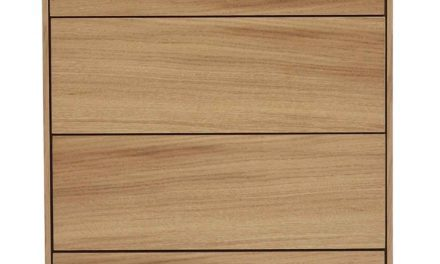 Tore kommode – Lakeret egetræ, 4 push-to-open låger