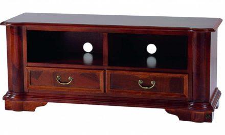 Amadeus TV-bord – valnød, m. 2 rum og 2 skuffer
