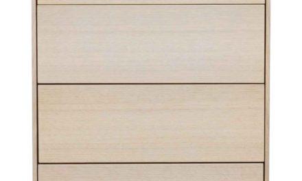 Tore kommode – Hvidpigmenteret egetræ, 4 push-to-open låger