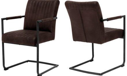 CANETT Pitou spisebordsstol m. armlæn – Mørkebrun