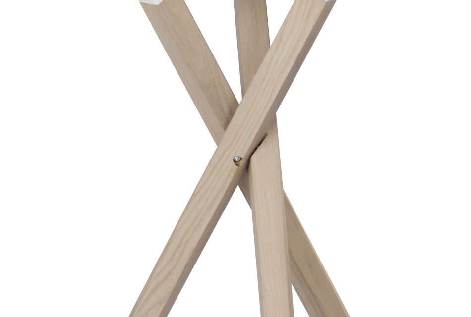 Morris sidebord – hvid/hvidolieret eg, rund (Ø50)