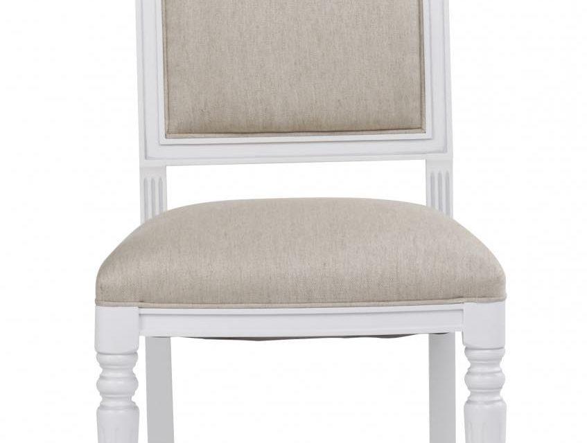 Mozart spisebordsstol – hvid/beige