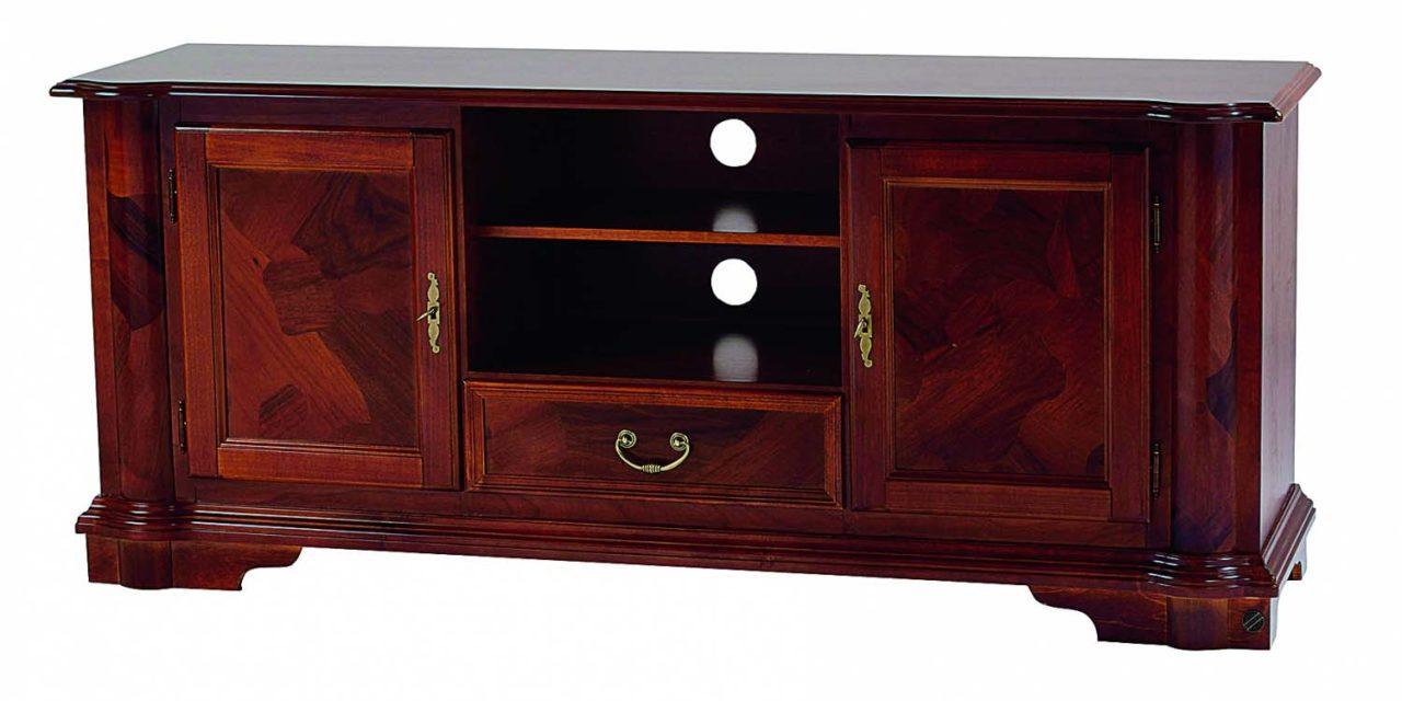 Amadeus TV-bord – valnød, m. 2 rum, 1 skuffe og 2 låger