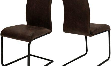 CANETT Clipper spisebordsstol – Mørkebrun