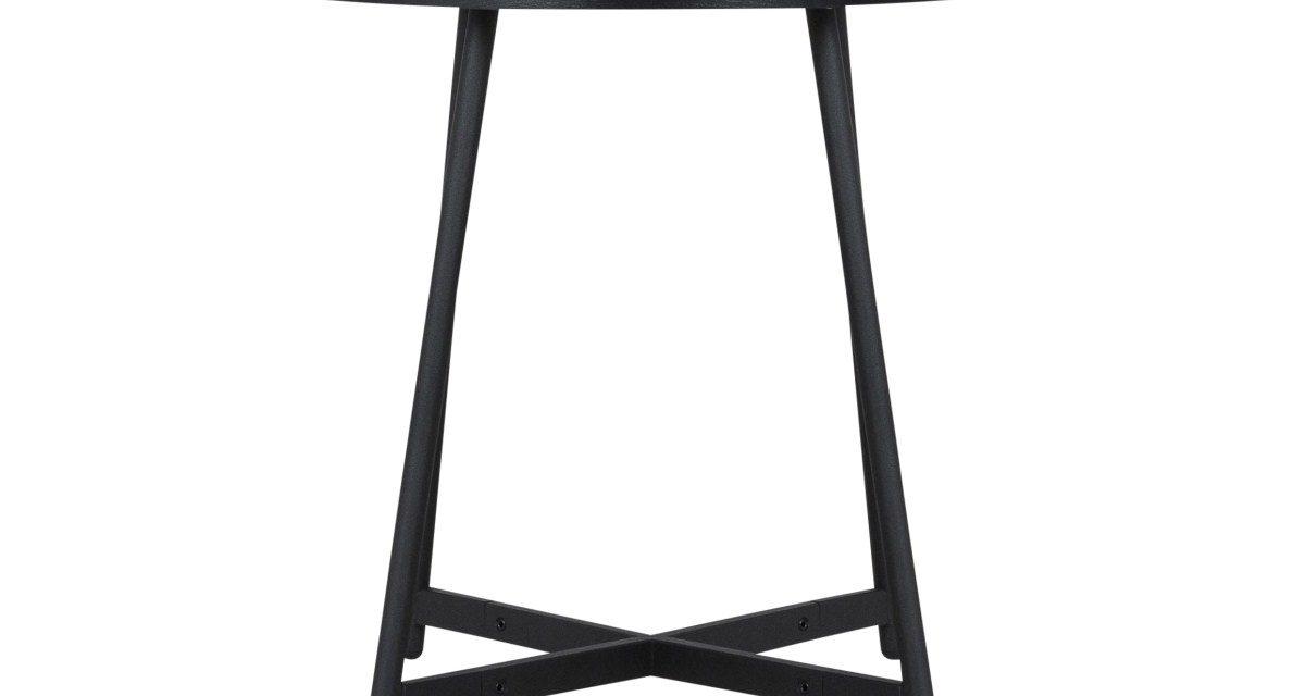CANETT Sisco sidebord – Sort Ø40 cm