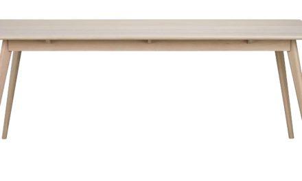 Yumi spisebord – Hvidpigmenteret egetræ, 190×90