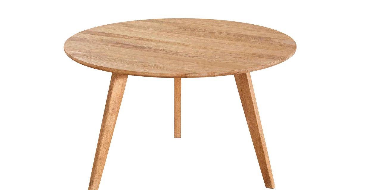Yumi sofabord – Lakeret asketræ, rundt (Ø:90)