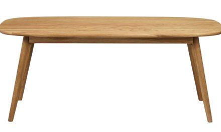 Yumi sofabord – Lakeret egetræ, 125×60