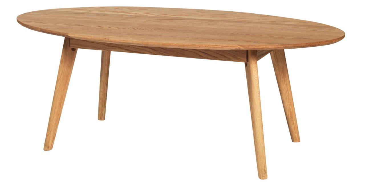 Yumi sofabord – Lakeret egetræ, ovalt