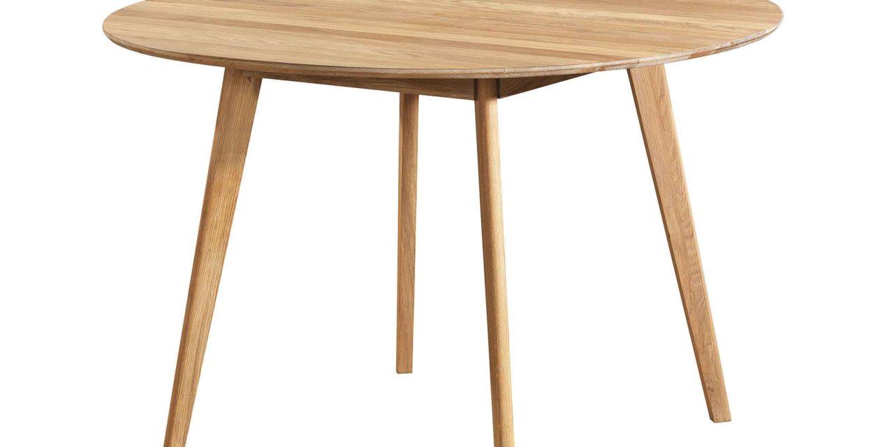 Yumi spisebord – Lakeret egetræ, rundt (Ø:115)