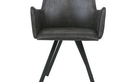 CANETT Amigo spisebordsstol m. armlæn – Sort