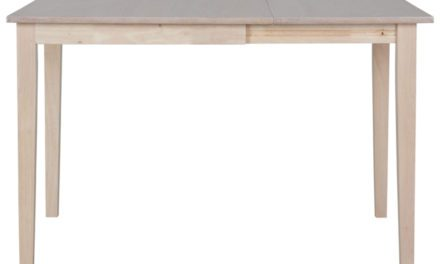 CANETT Salford spisebord – træ, incl. plade (75×75)