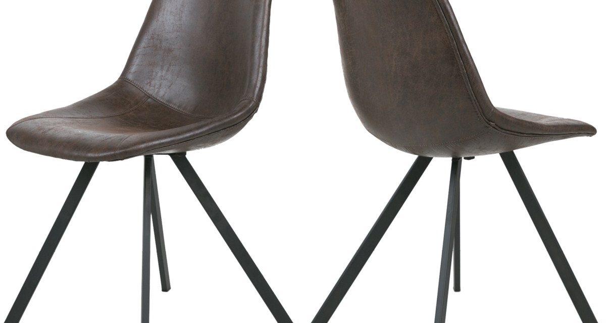 CANETT Zobel spisebordsstol – Mørkebrun
