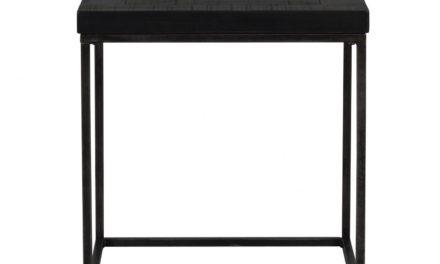 Dalton sidebord – sort træ og metal, kvadratisk