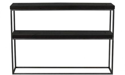 Dalton konsolbord – sort træ og metal