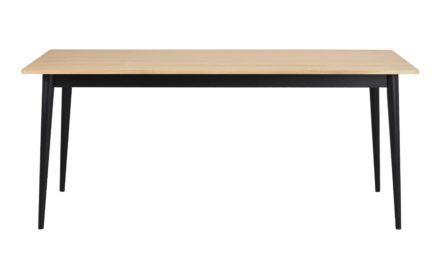 Vienna spisebord – Egetræ m. sorte ben, 180×90