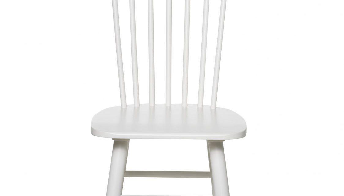 Disco spisebordsstol – hvidt egetræ
