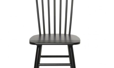 Disco spisebordsstol – sort egetræ