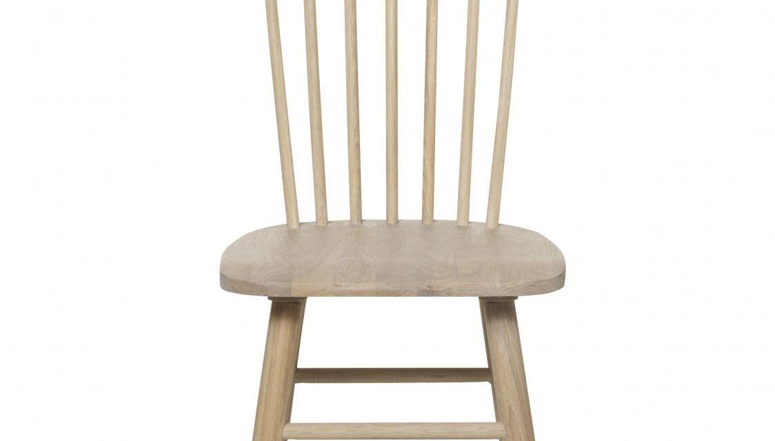Disco spisebordsstol – hvidpigmenteret egetræ