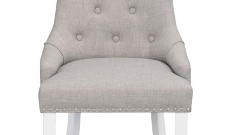 Vicky spisebordsstol – Gråt stof, hvide træben