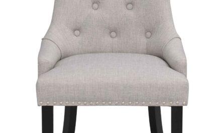 Vicky spisebordsstol – Gråt stof, sorte træben