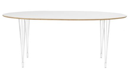 Fusion spisebord – hvid laminat, oval (190×100)