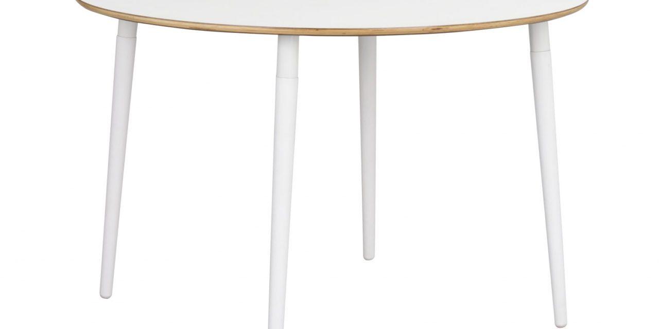 Fusion spisebord – hvid laminat/bøg, rund (Ø115)