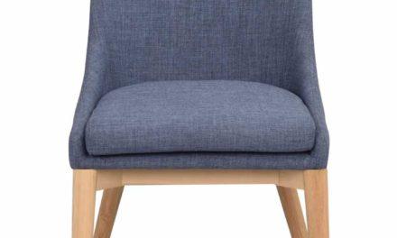 Bea spisebordsstol – blåt stof/eg