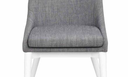 Bea spisebordsstol – mørkegråt stof/hvidt træ