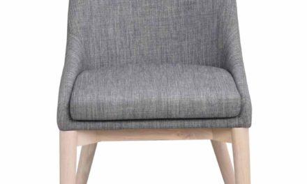 Bea spisebordsstol – mørkegråt stof/hvidpigmenteret eg