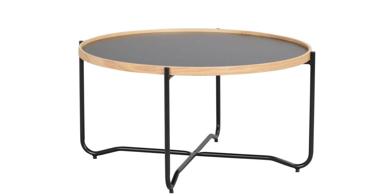 Bristol sofabord – sort metal/træ
