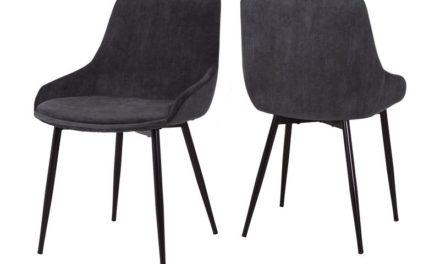 CANETT Merick spisebordsstol – Mørkegrå
