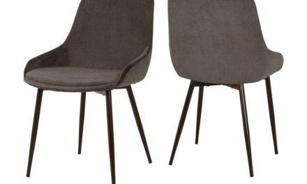 CANETT Merick spisebordsstol – Grå/Brun